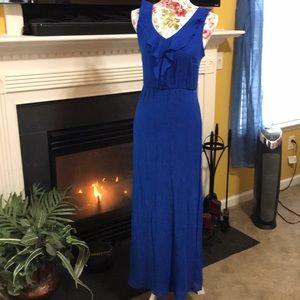 AB Studio Blue Lace Back Dress